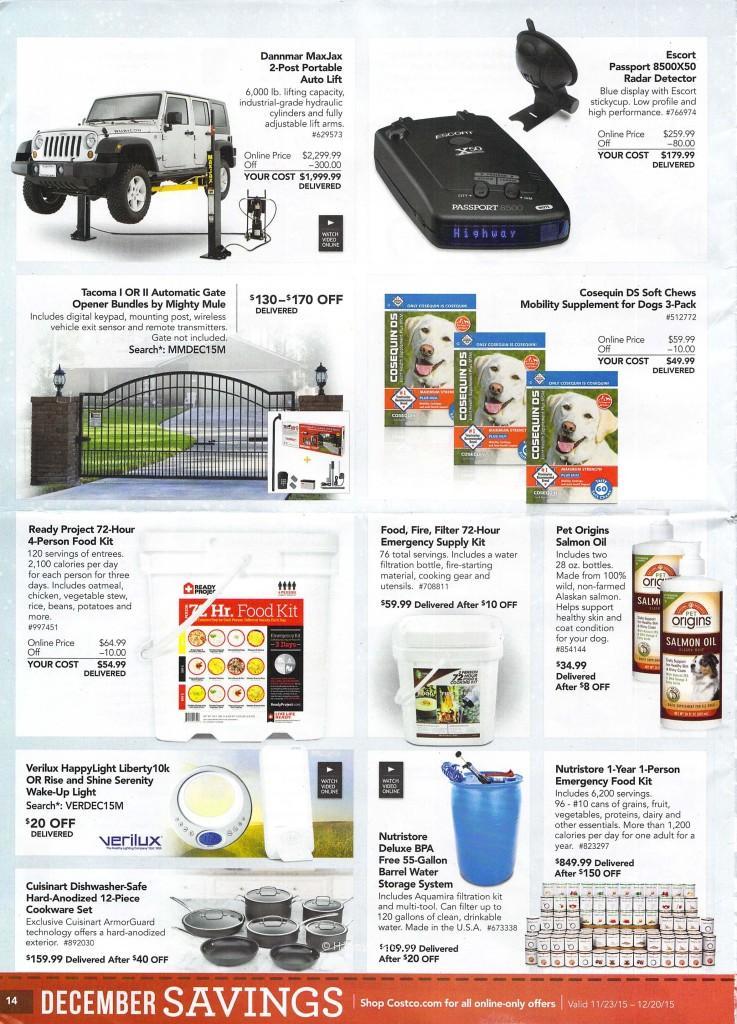 Costco December Savings Booklet