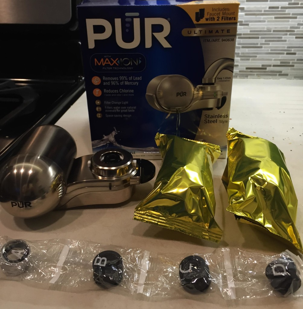 PUR MaxION Faucet Mount Water Filter Installation All Contents Materials Filter