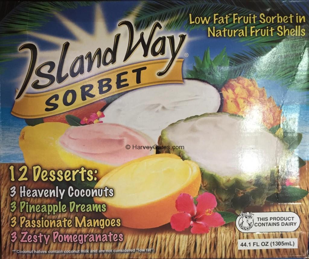 Island Way Fruit Shell Sorbet