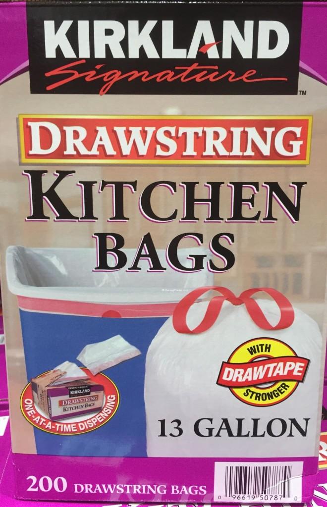 Kirkland Drawstring Kitchen Bags Side Panel