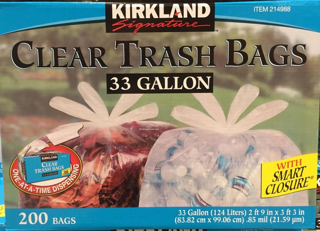 Kirkland Smart Closure Clear Trash Bags