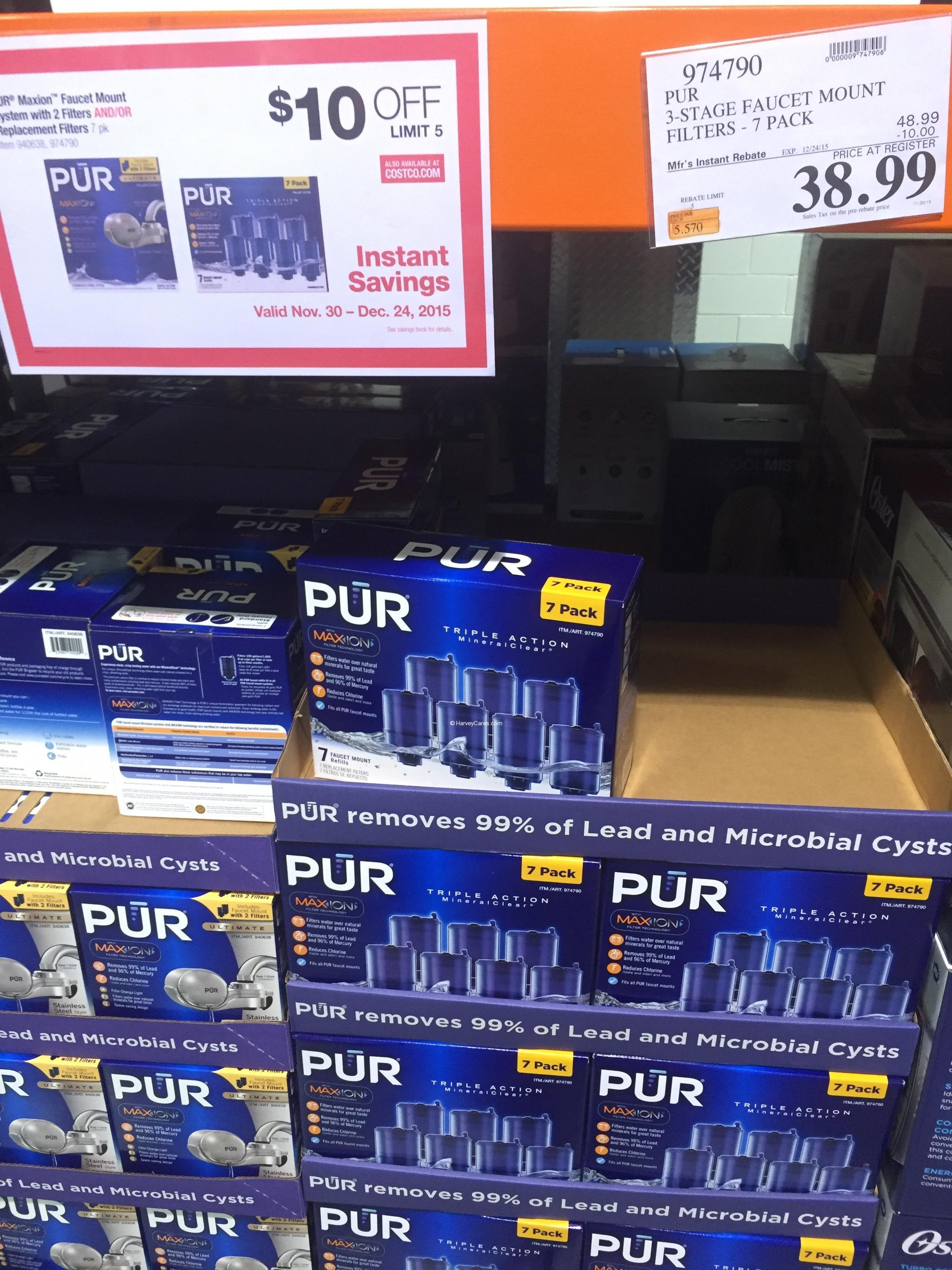 PUR MaxION Water Filter Replacement Costco Price Panel | Harvey @ Costco