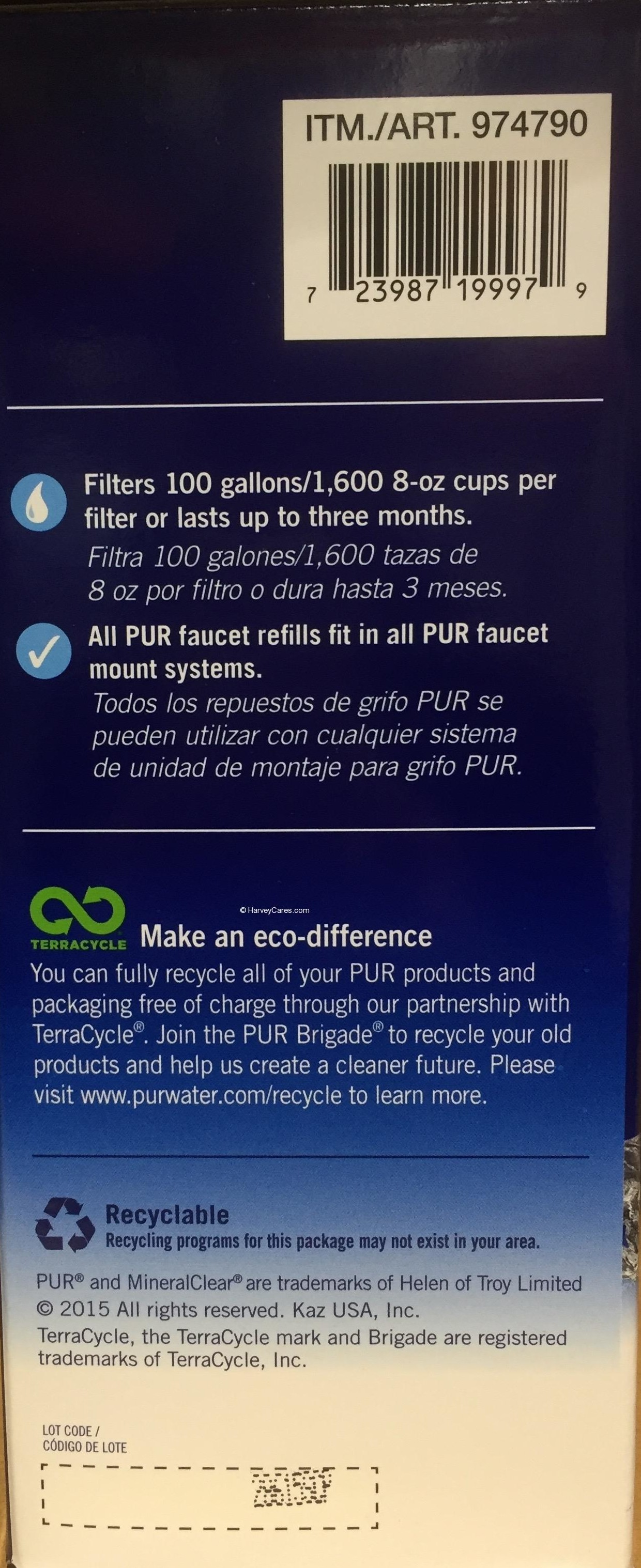 PUR MaxION Water Filter Replacement Side Panel | Harvey @ Costco