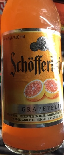 Grapefruit Beer Schofferhofer Hefeweizen Front Bottle