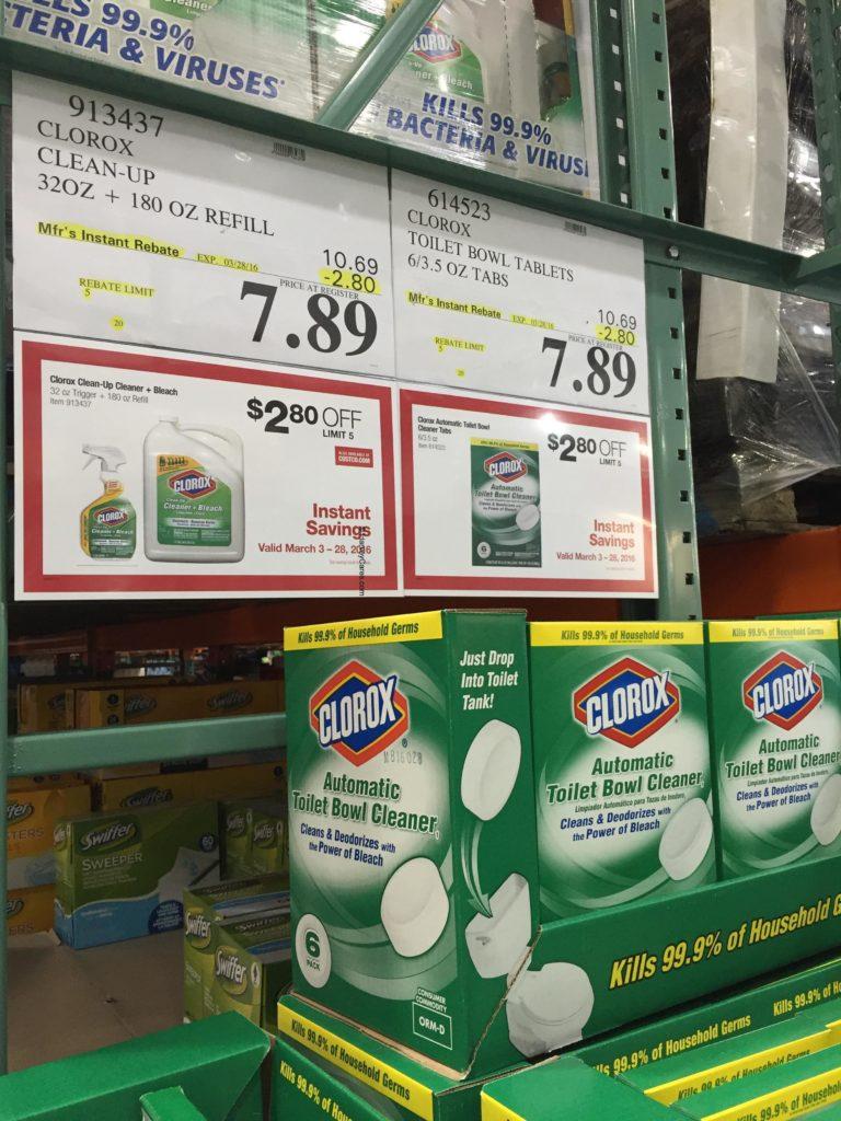 Clorox Automatic Toilet Bowl Cleaner Costco Price Panel