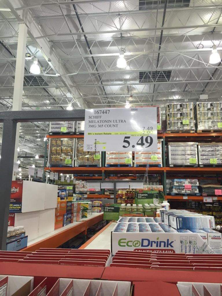 Schiff Ultra Melatonin Tablets Costco Price Panel
