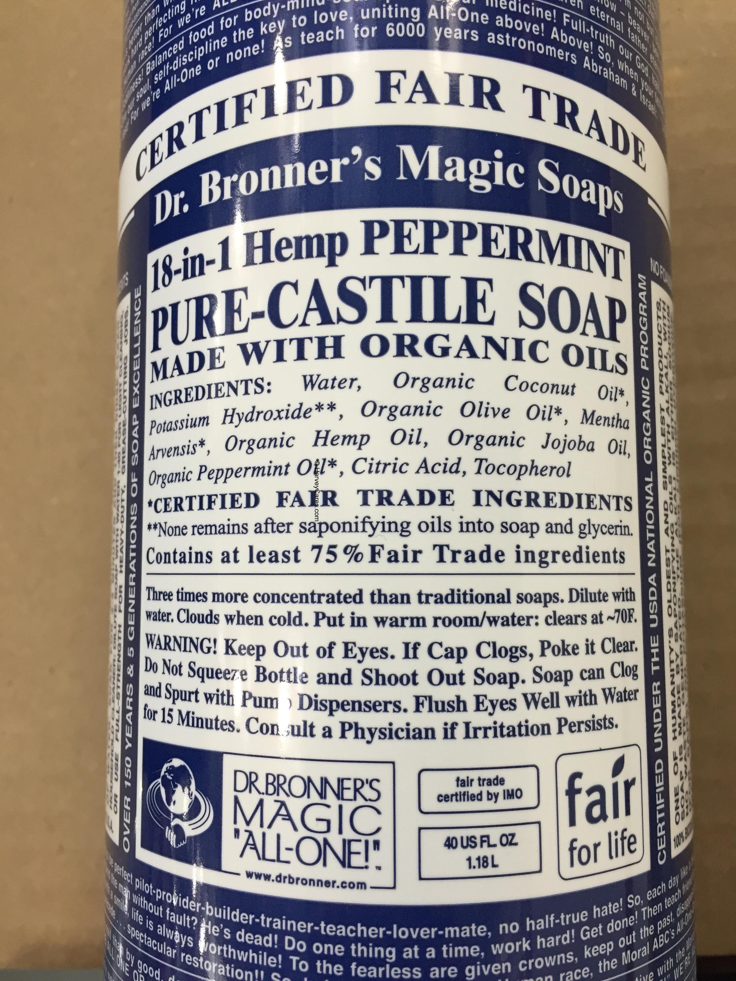 Dr Bronner S Magic Pure Castile Peppermint Soap