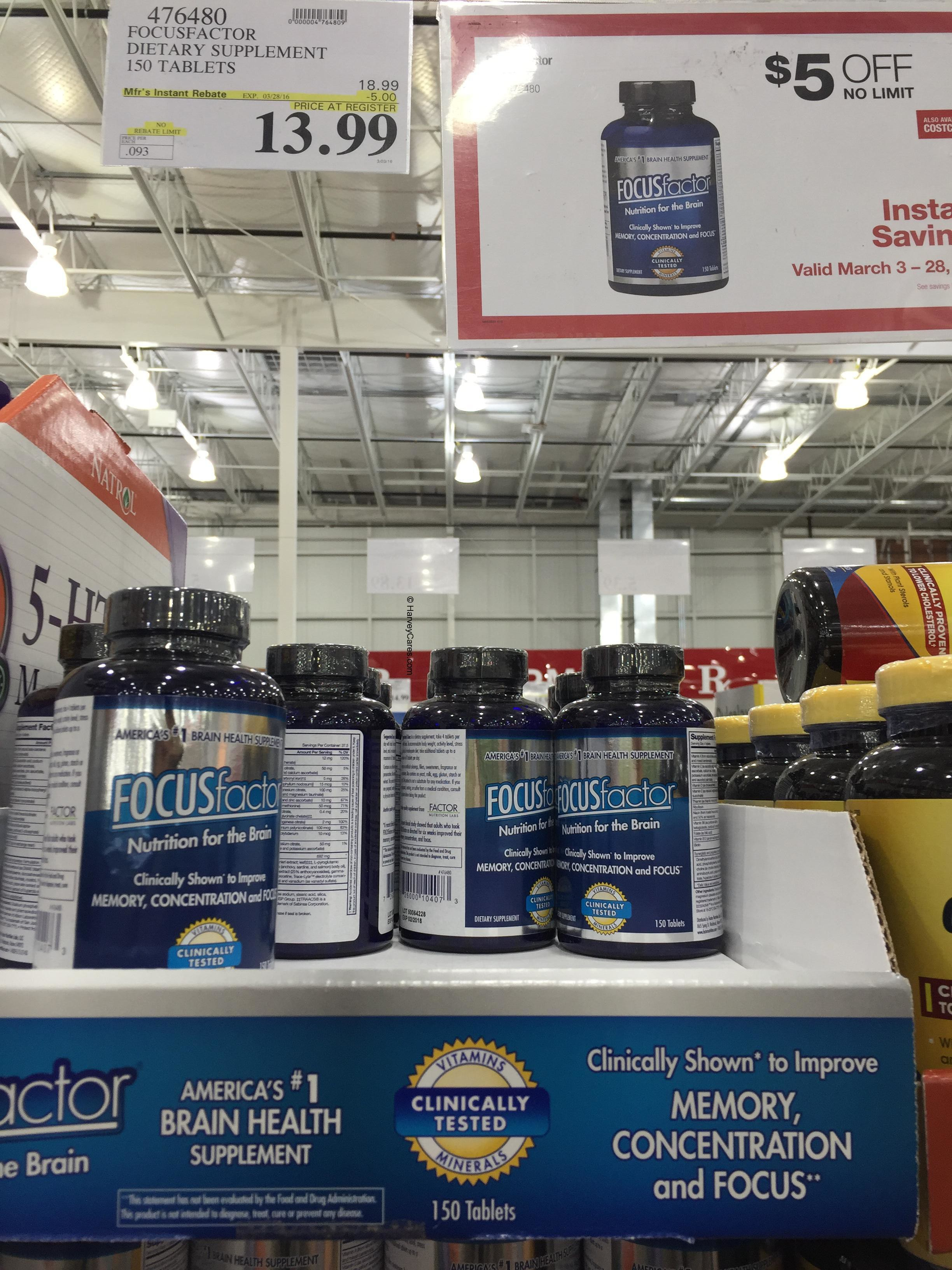 Focus Factor Nutrition Supplement For The Brain Costco