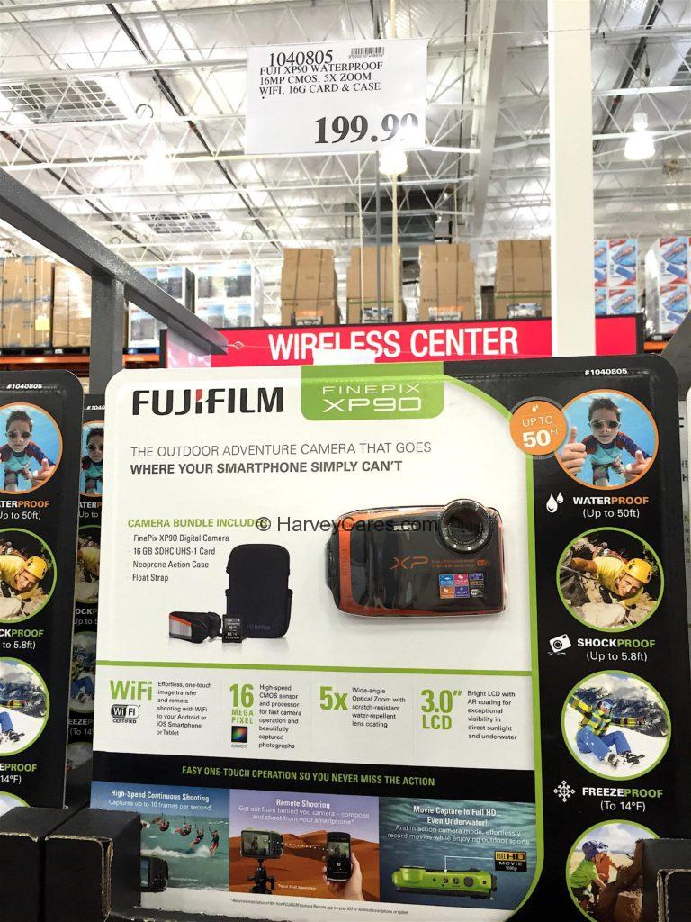 Fujifilm Finepix XP90 Waterproof Camera Costco Price Panel