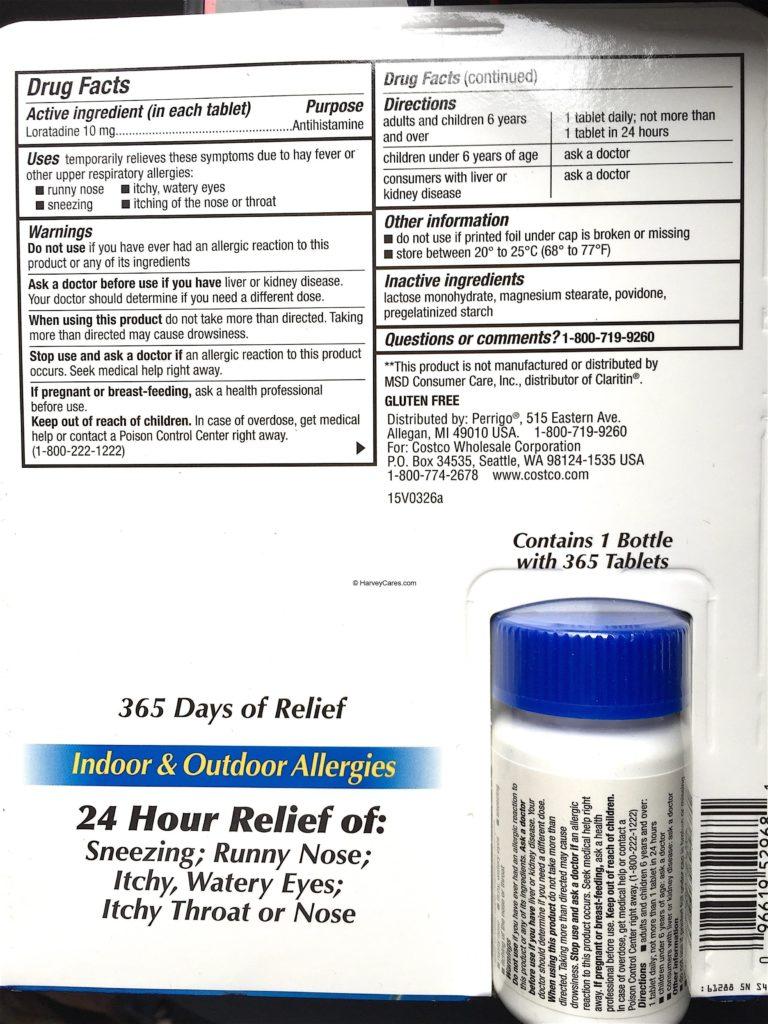 Kirkland AllerClear Non Drowsy Allergy Tablets   Harvey @ Costco