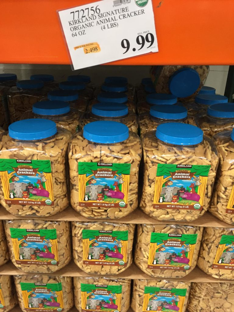 Kirkland Organic Animal Crackers Costco Price Panel