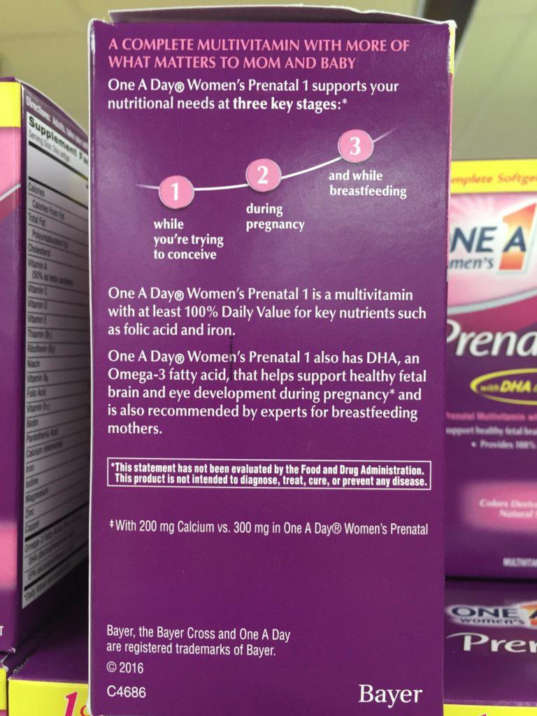 costco one a day prenatal vitamins
