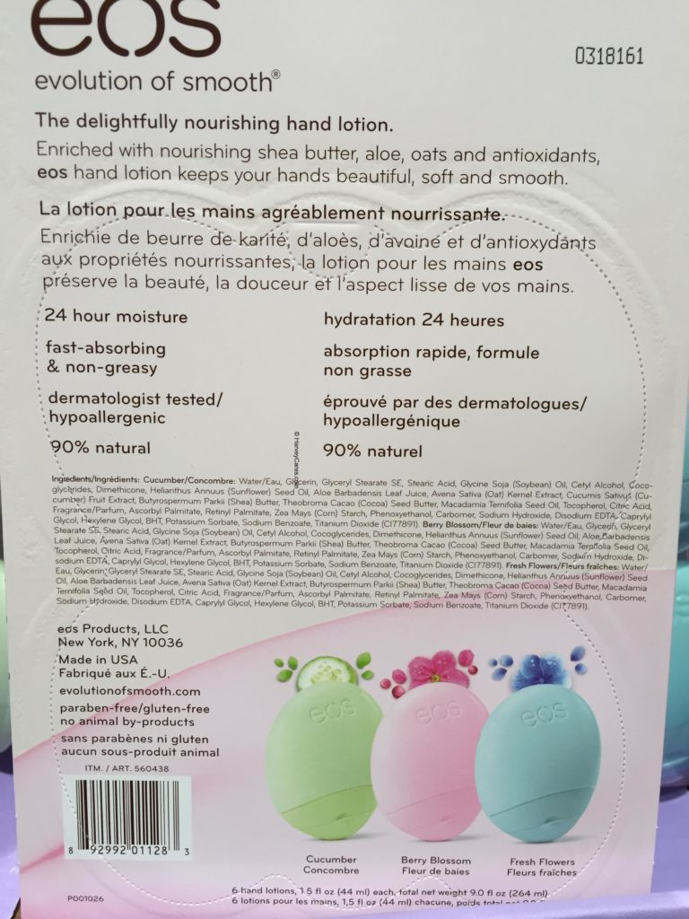 eos Travel Hand Lotion Flavors Product Description Usage Instructions and Ingredients