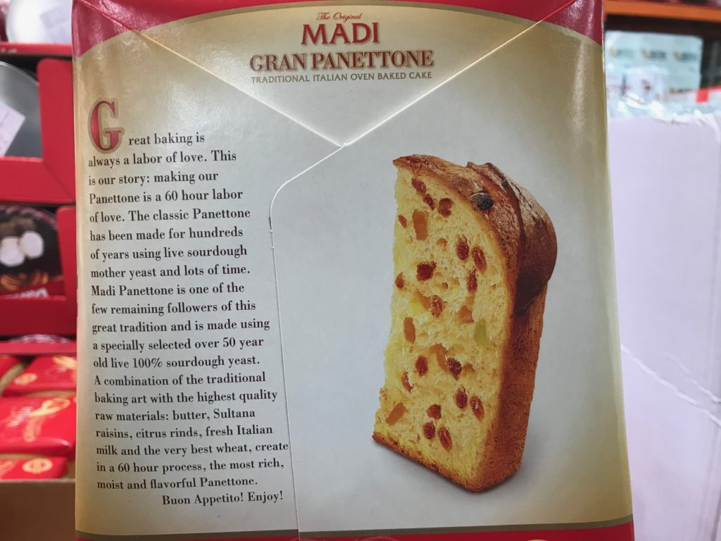 Classic Madi Gran Panettone Italian Baked Cake Product Description Panel