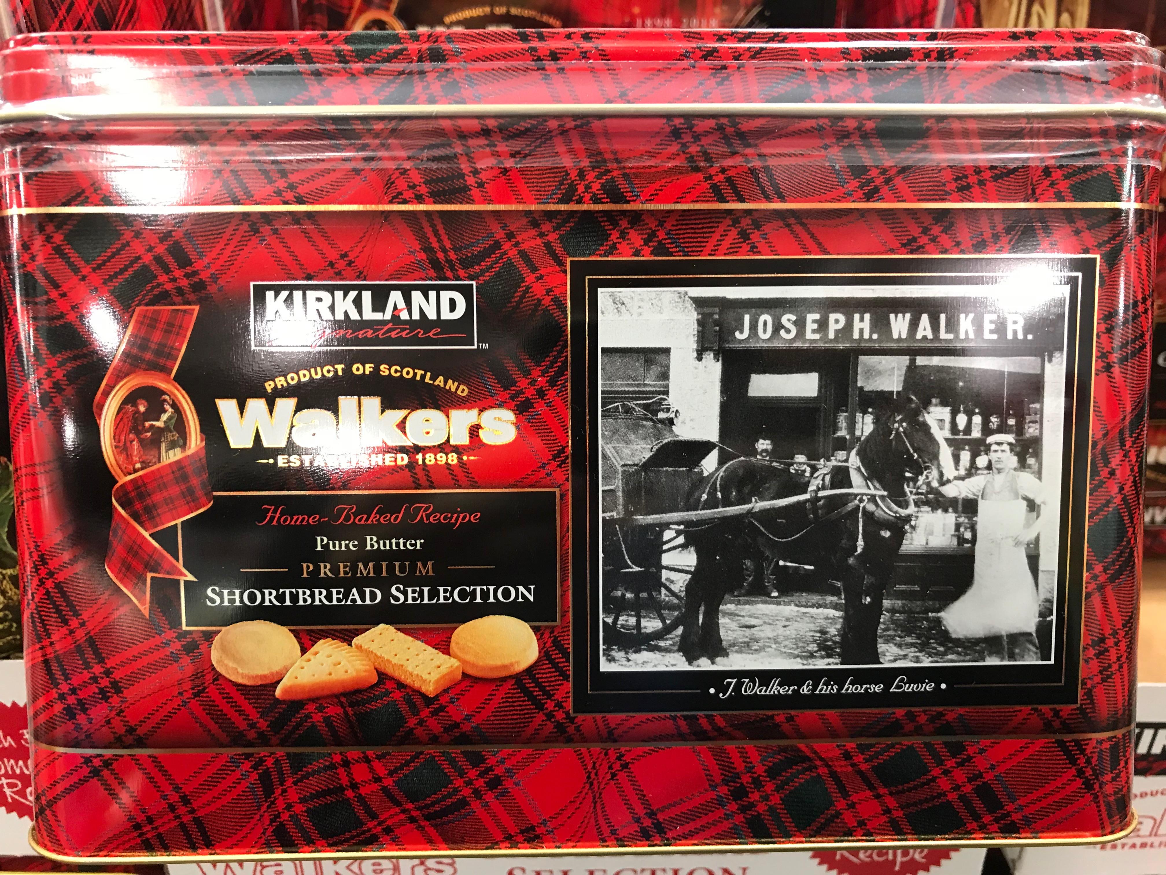 Kirkland Signature Walkers Shortbread Selection Tin Side Panel View
