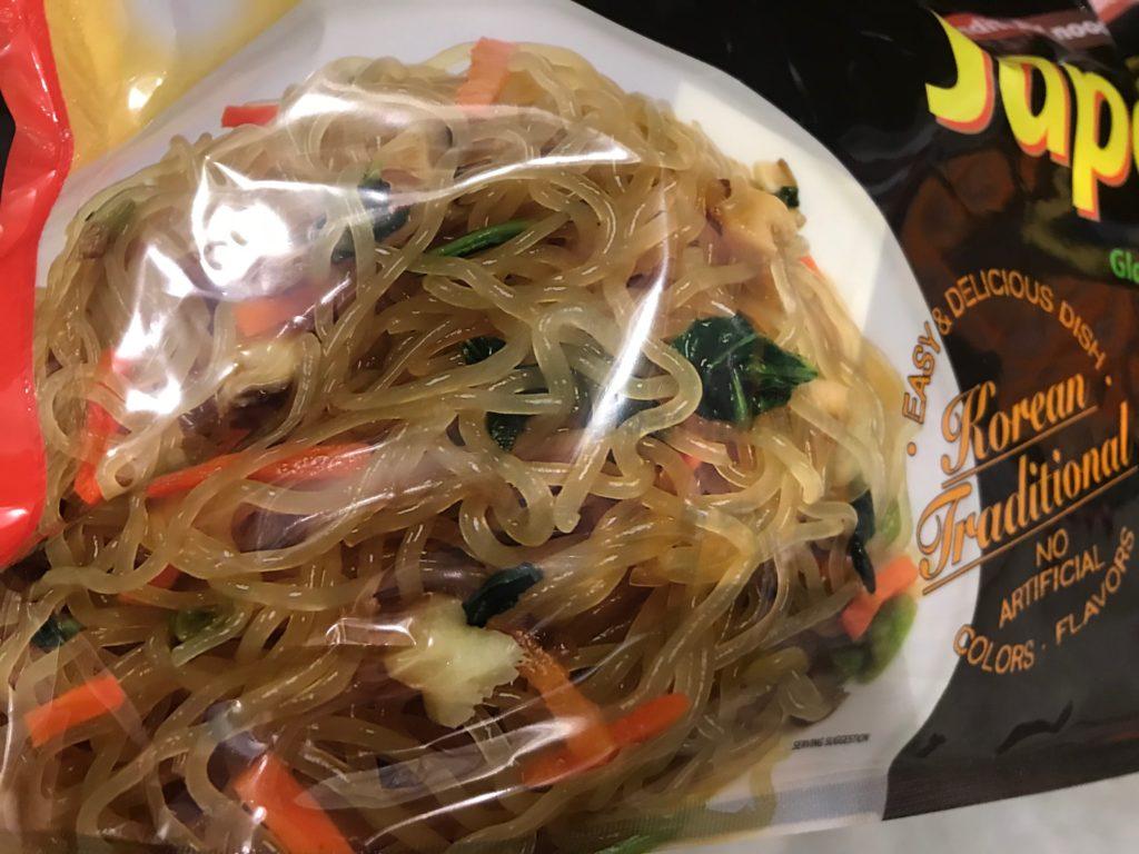 Japchae Korean Glass Noodles Actual View