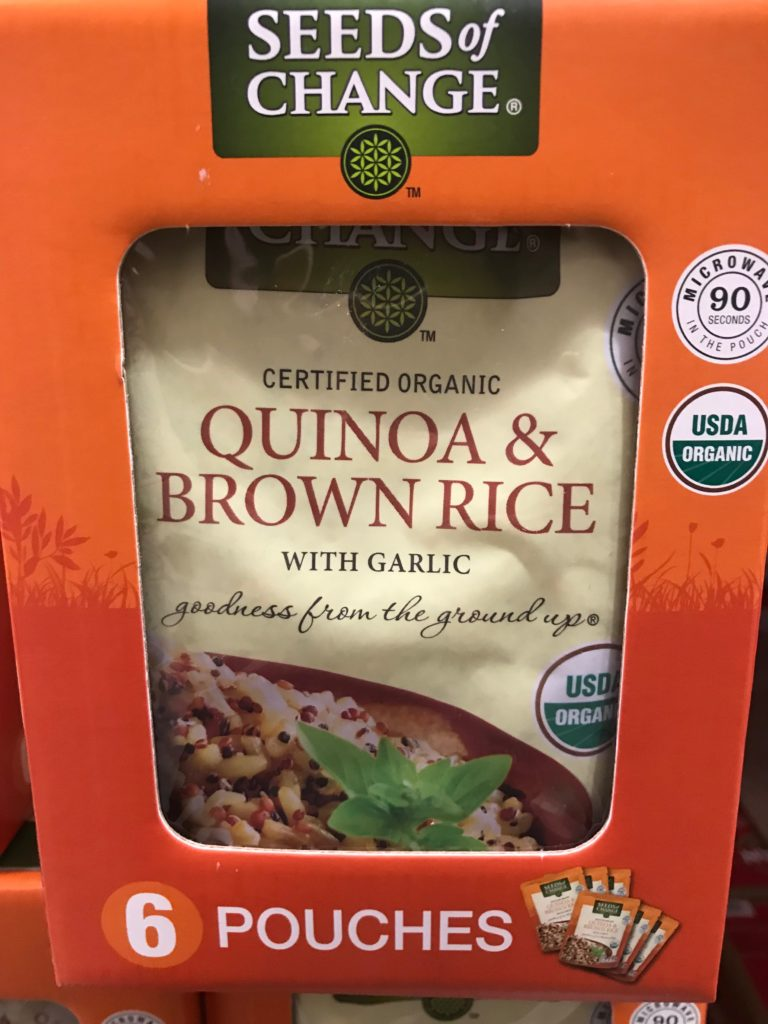 Seeds of Change Quinoa Brown Rice with Garlic Individual Pouches