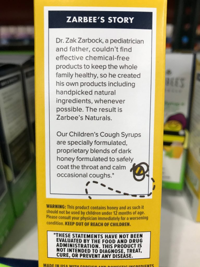 Zarbee's Naturals Cough Syrup + Mucus Story and Warning