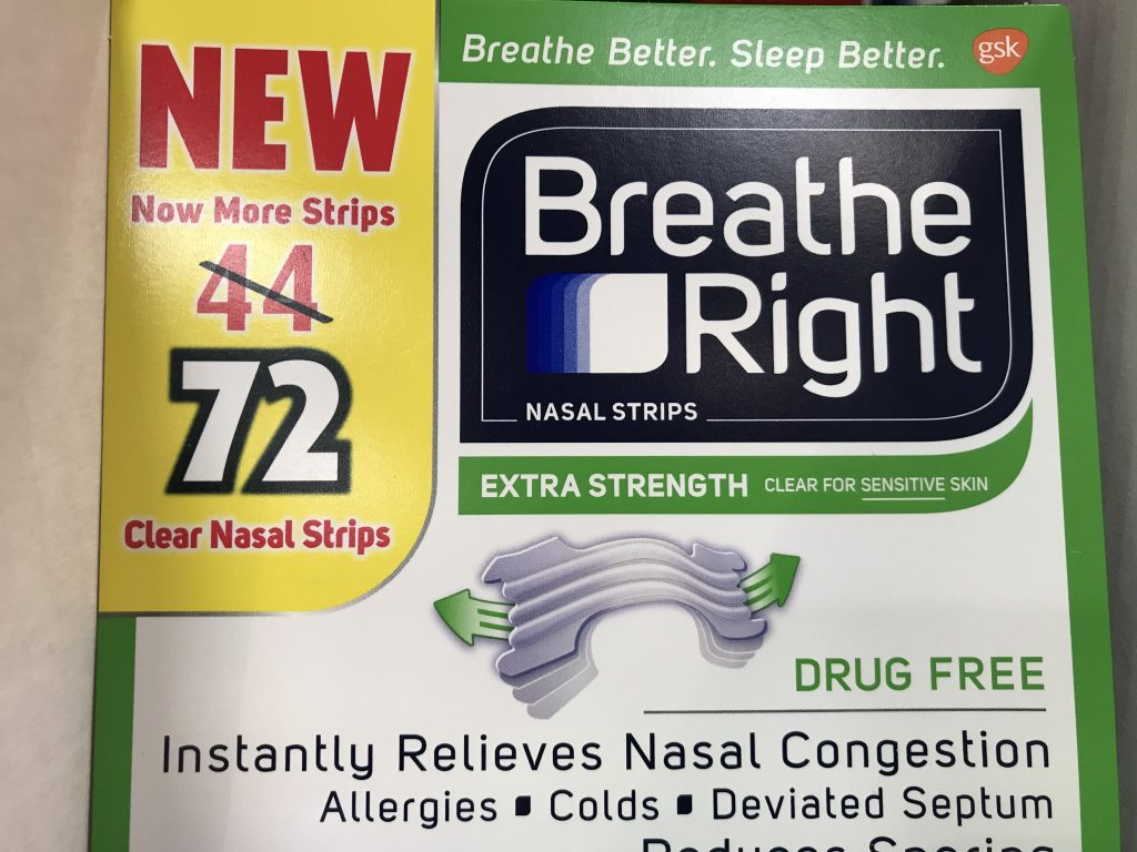 Breathe Right Clear Nasal Strips Product Panel