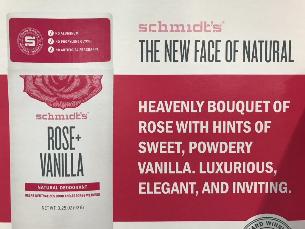 Schmidt's Natural Deodorant Rose and Vanilla Description Back Panel